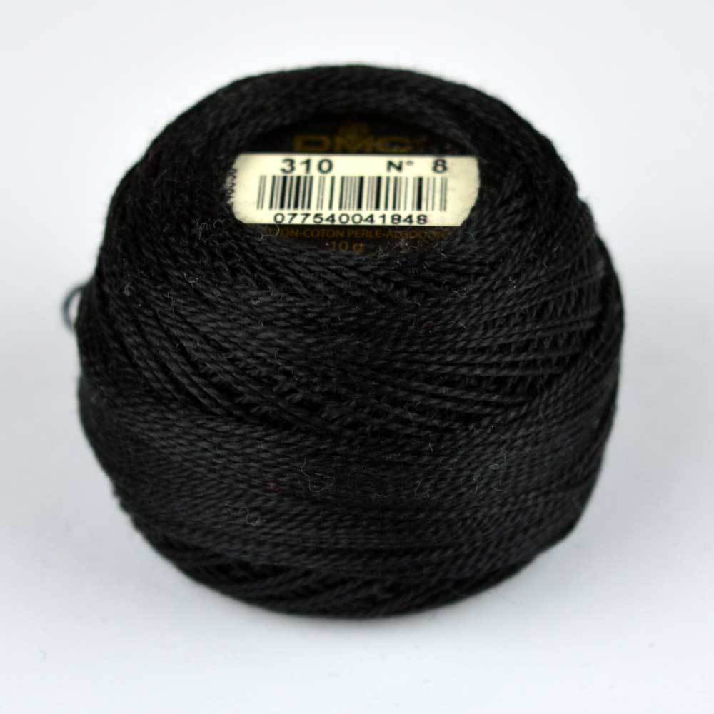 DMC Perle Cotton #8 Thread - 310 black | Holm Sown