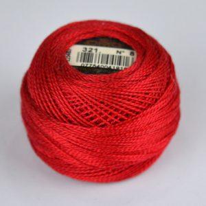 DMC Perle Cotton #8 Thread - 321 deep red | Holm Sown