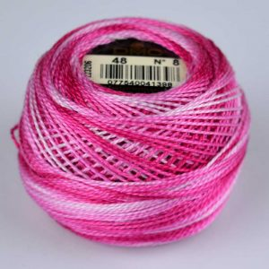 DMC Perle Cotton #8 Thread - 48 pink (variegated) | Holm Sown