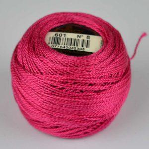 DMC Perle Cotton #8 Thread - 601 fuchsia | Holm Sown