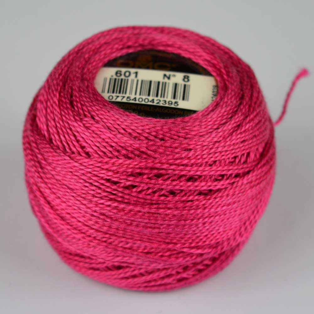 DMC Perle Cotton #8 Thread - 601 fuchsia | Holm Sown
