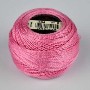 DMC Perle Cotton #8 Thread - 604 pink | Holm Sown