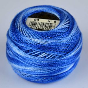 DMC Perle Cotton #8 Thread - 93 blue (variegated) | Holm Sown
