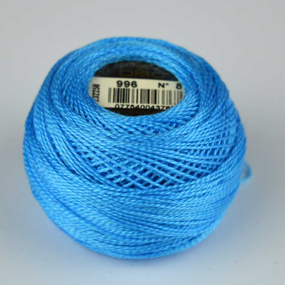 DMC Perle Cotton #8 Thread - 996 sky blue | Holm Sown
