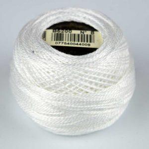 DMC Perle Cotton #8 Thread - B6200 white | Holm Sown