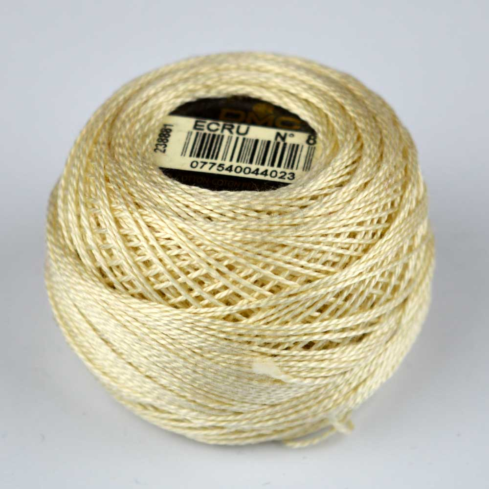 DMC Perle Cotton #8 Thread - ECRU ecru | Holm Sown