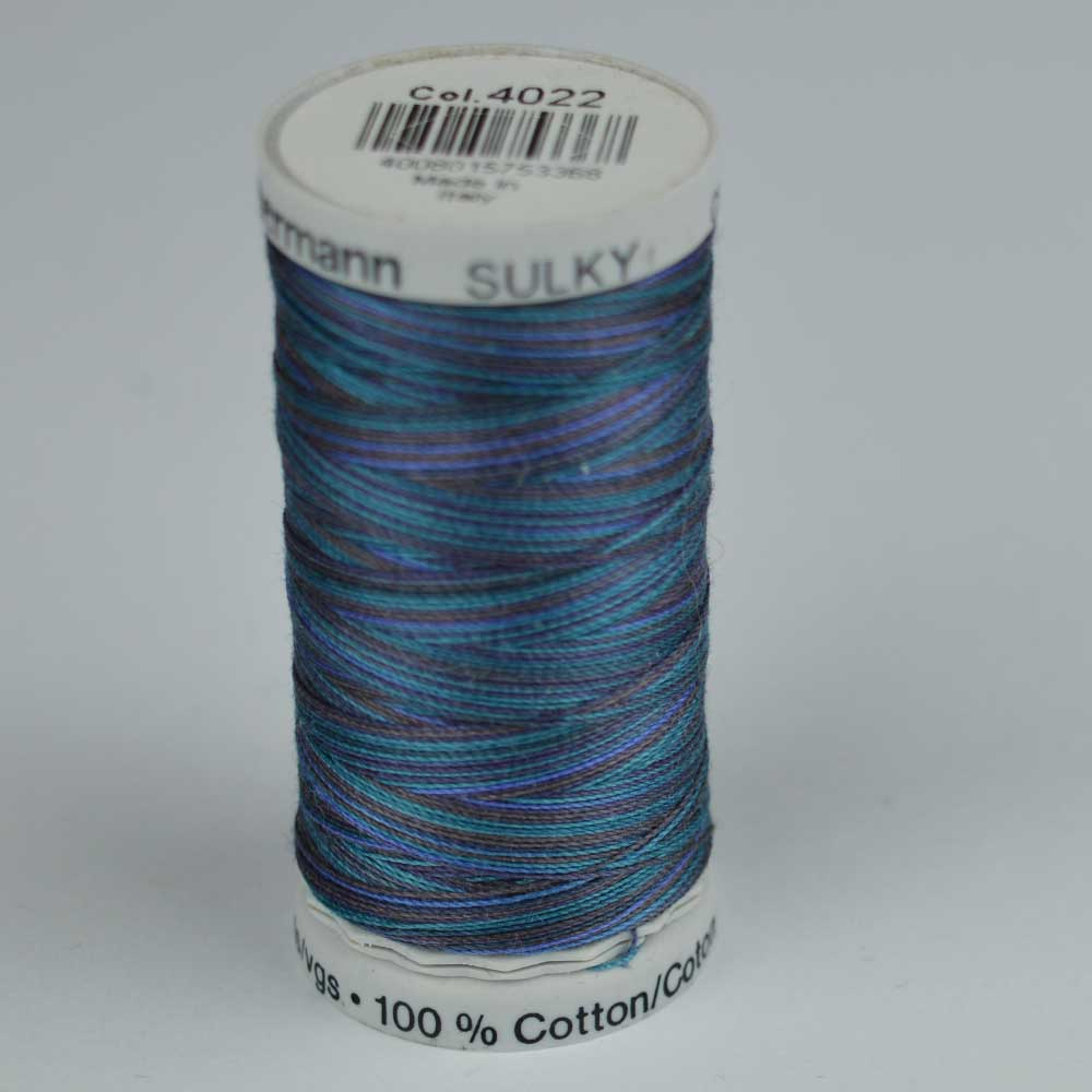 Gutermann Sulky Cotton Variegated Thread - 4022 Blue-purple | Holm Sown
