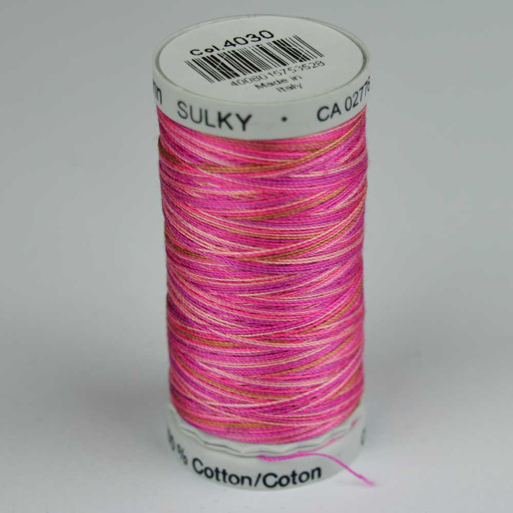 Gutermann Sulky Cotton Variegated Thread - 4030 pink | Holm Sown