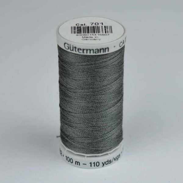 Gutermann Upholstery Thread 100m - 701 grey | Holm Sown