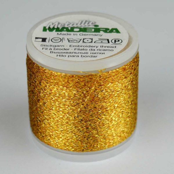 Madeira Rayon 40 Metallic Thread 200m - 21 gold | Holm Sown