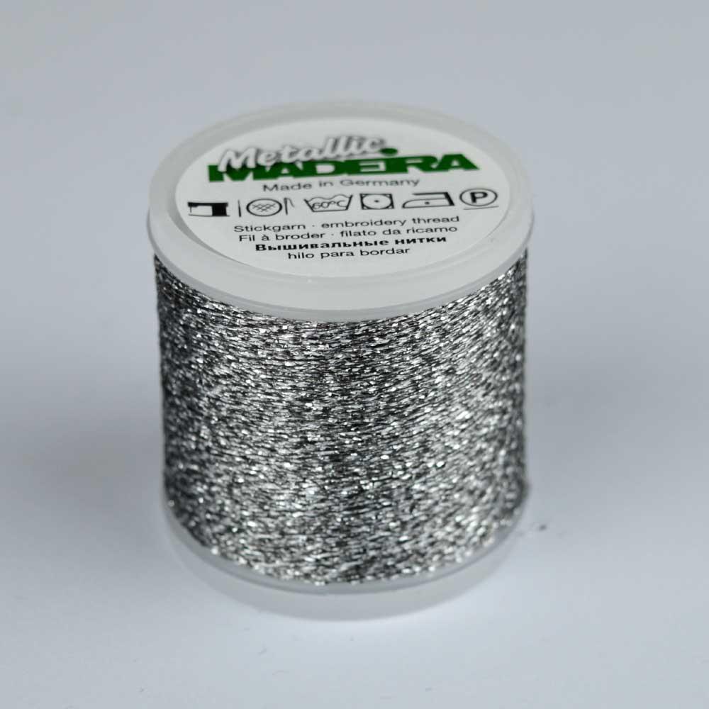 Madeira Rayon 40 Metallic Thread 200m - 44 silver | Holm Sown