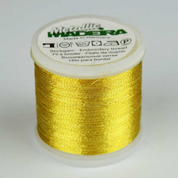 Madeira Rayon 40 Metallic Thread 200m - 6 gold | Holm Sown