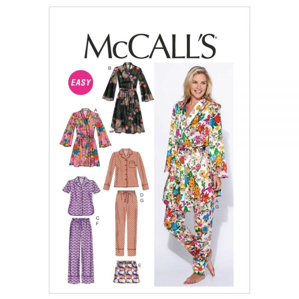 McCalls M6659 Misses' Robe, Belt, Tops, Shorts and Pants | sewing pattern | Holm Sown
