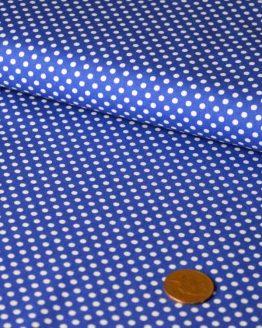 Mini Spot Cotton – navy blue |  Dressmaking fabrics | Holm Sown