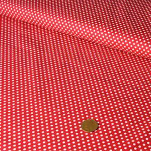 Mini Spot Cotton – red |  Dressmaking fabrics | Holm Sown