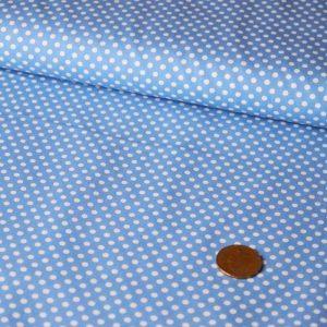 Mini Spot Cotton – sky blue    Dressmaking fabrics   Holm Sown