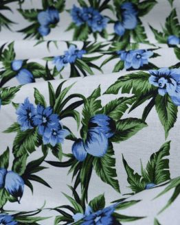 Blue Hawaii Linen Cotton | Dressmaking Fabric from Holm Sown