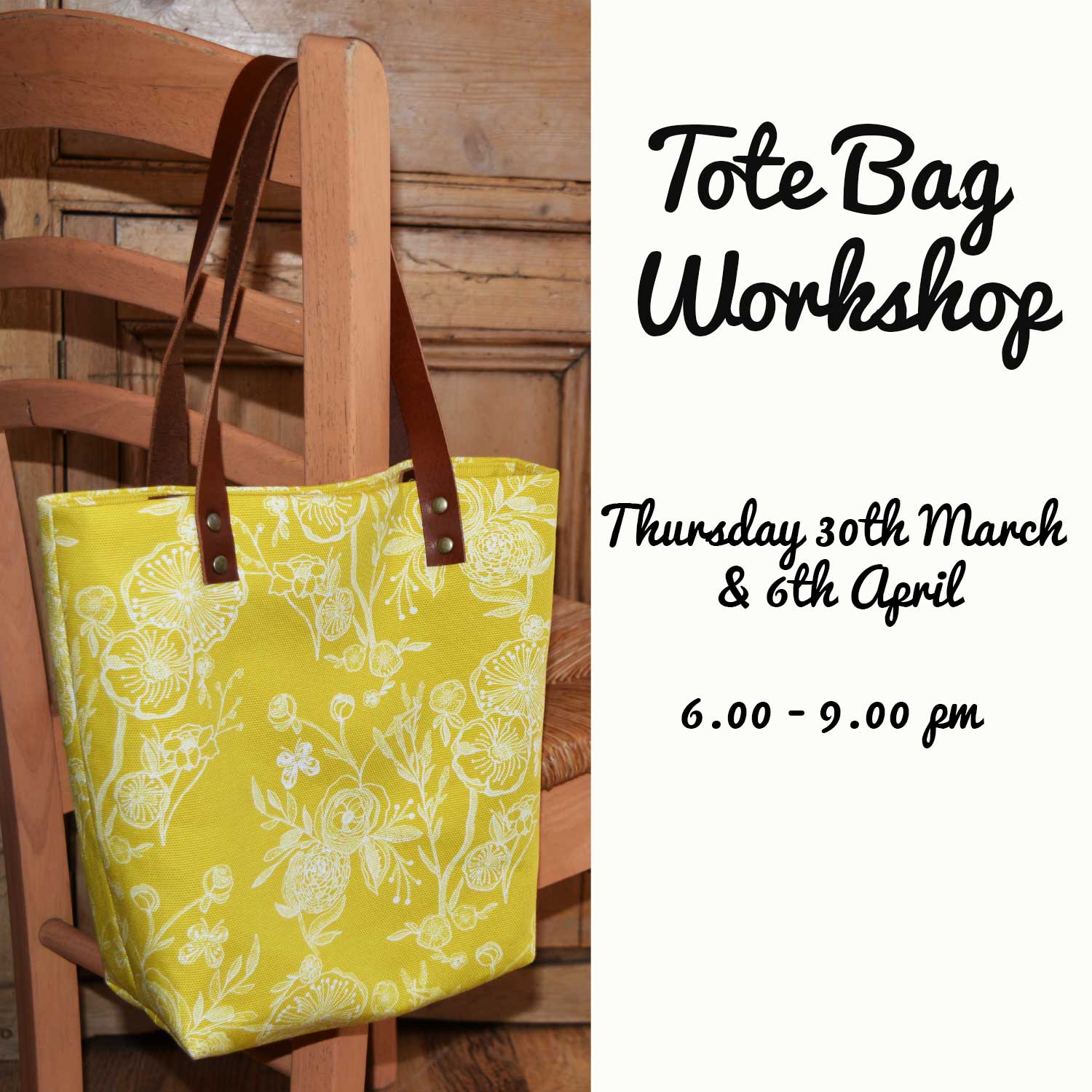 Genoa Tote Bag Workshop - Learn to Sew | Holm Sown