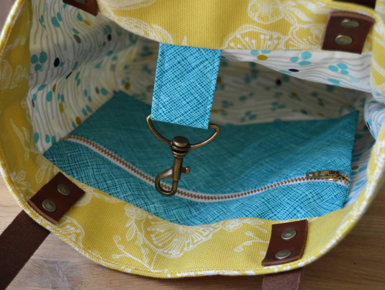Genoa Tote Bag Workshop - bag interior   Holm Sown