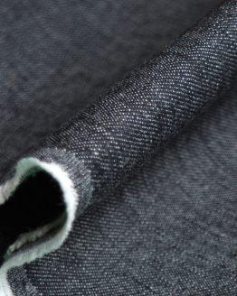 Holm Sown Online Fabric Shop - Denim Black Twill dressmaking fabric
