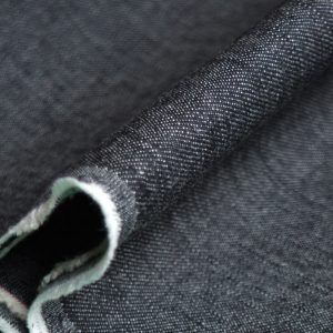 Holm Sown Online Fabric Shop - Denim Black Twill dressmaking fabric