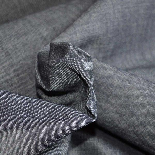 Indigo Denim - cotton dressmaking fabric from Holm Sown