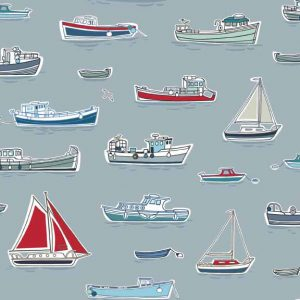 Makower Marina Boats - Grey | Holm Sown
