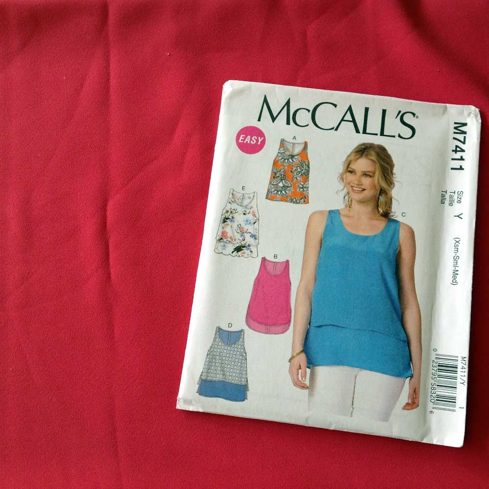 McCalls M7411 Pink Stretch Crepe | Spring Sewing Plans - Holm Sown