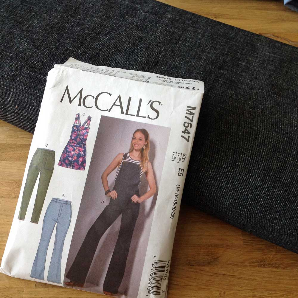 McCalls M7547 Dungaree Dress Denim | Spring Sewing Plans - Holm Sown