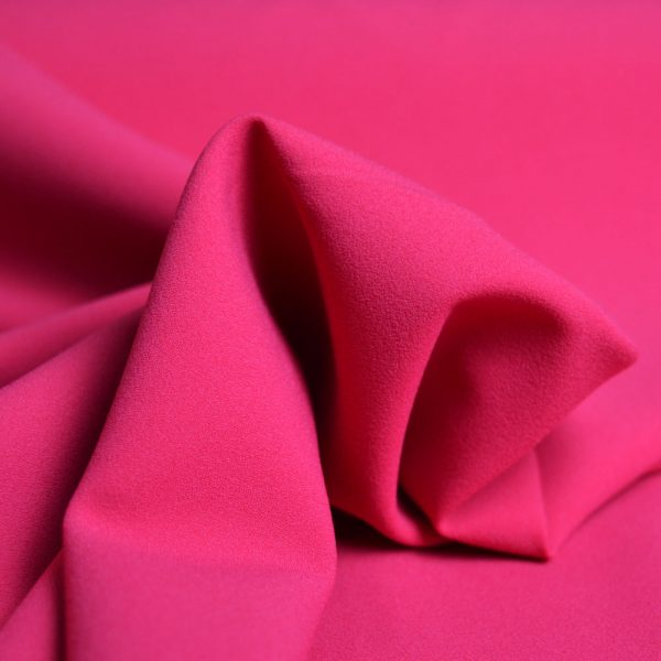 Stretch Crepe Pink - dressmaking fabric - Holm Sown