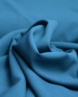 Stretch Crepe Teal - dressmaking fabric - Holm Sown