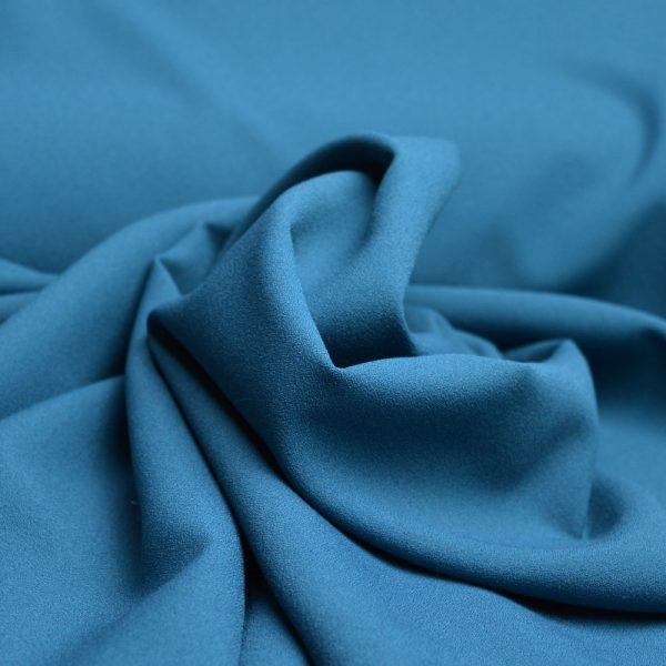Stretch Crepe Teal - dressmaking fabric - Holm Sown