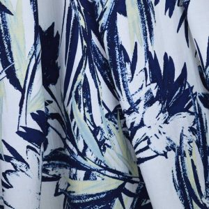 Tropicana Palms Linen Viscose | Dressmaking Fabric from Holm Sown