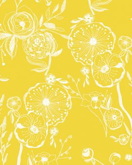 Art Gallery Fabrics Millie Fleur Line Drawings Yellowed | fabric | Holm Sown