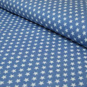 Denim Style Stars Cotton - pale blue   Holm Sown