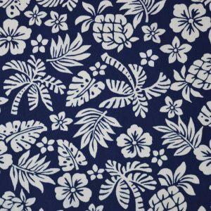 Hawaii Cotton Poplin - navy blue | Holm Sown