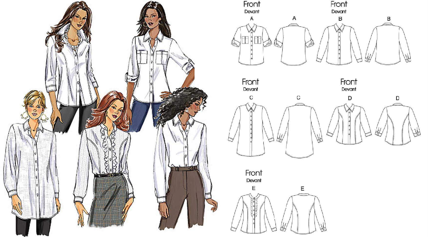 Holm Sown: Butterick B5526 shirt sewing pattern