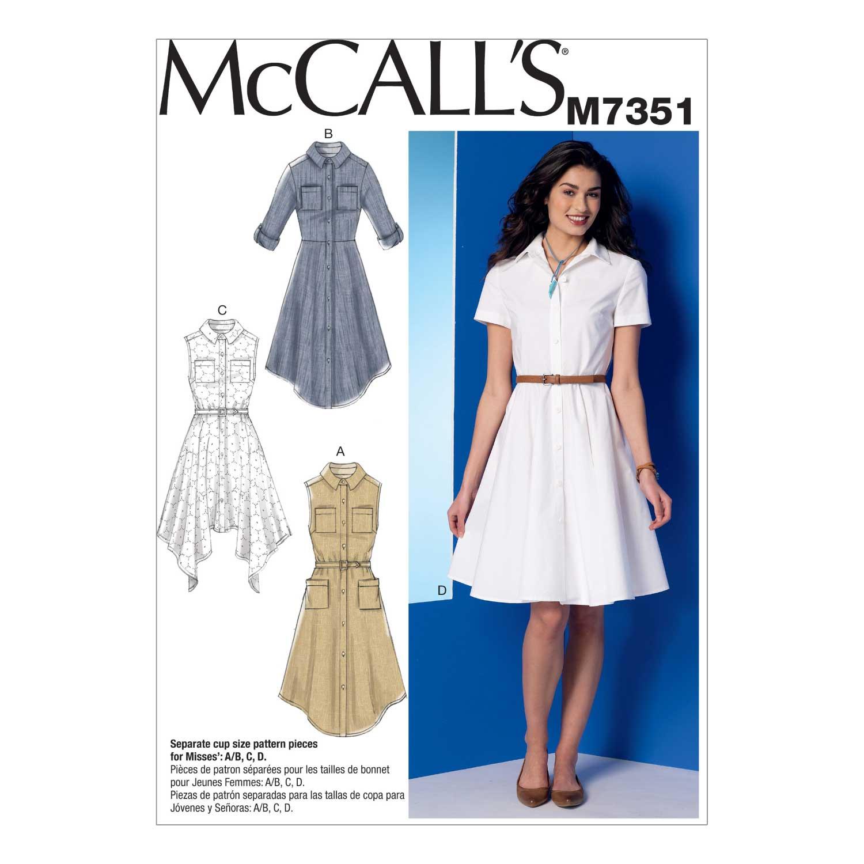 Holm Sown: McCalls M7351 Shirtdress Sewing Pattern