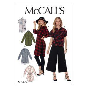 Holm Sown: McCalls M7472 Raglan Sleeve Shirt Sewing Pattern