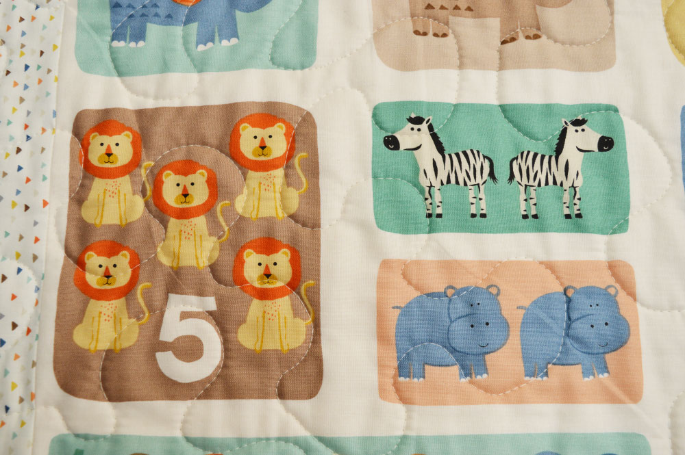 Holm Sown: A Speedy Baby Jungle Quilt - panel detail
