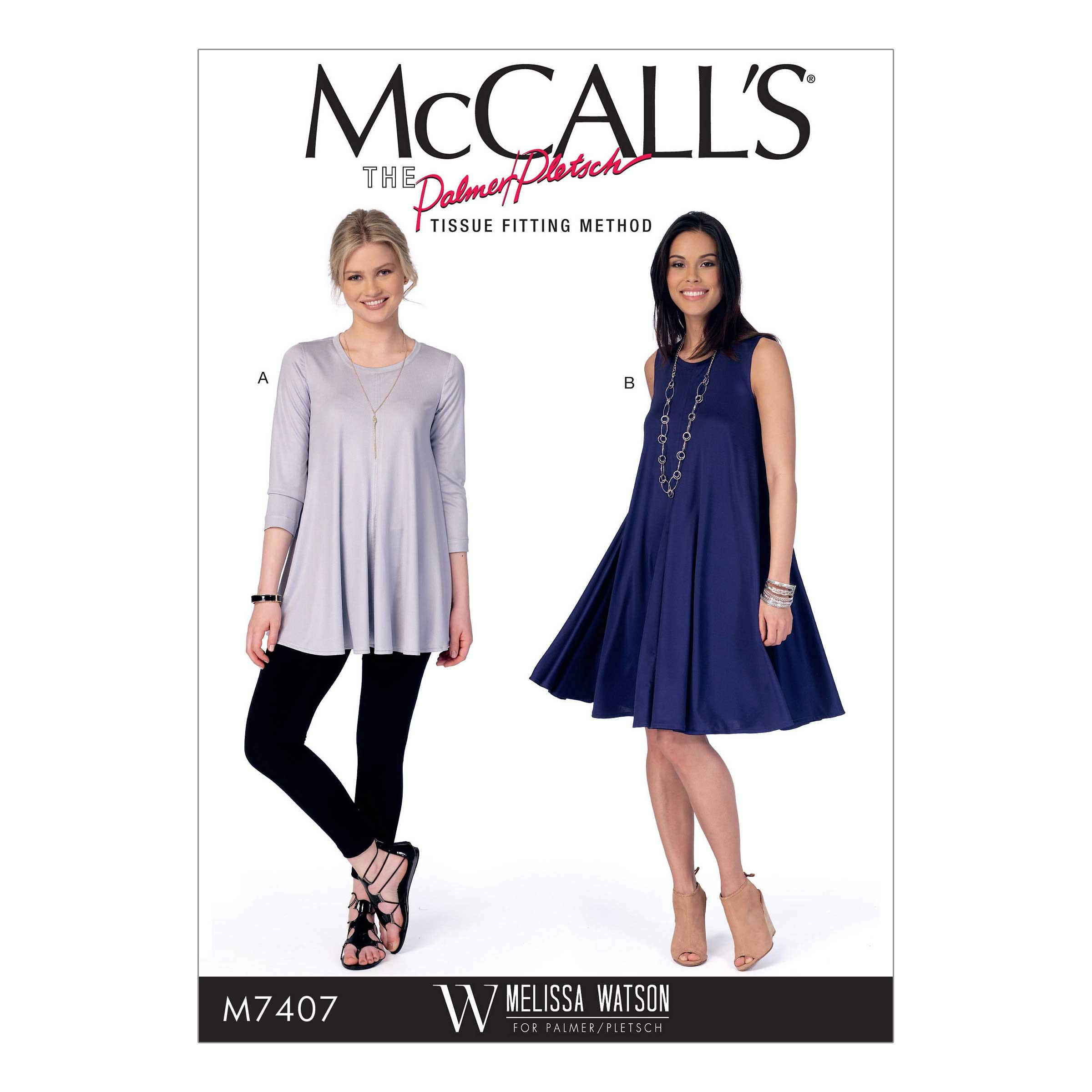 Holm Sown: McCalls M7407 - Melissa Watson swing tee sewing pattern