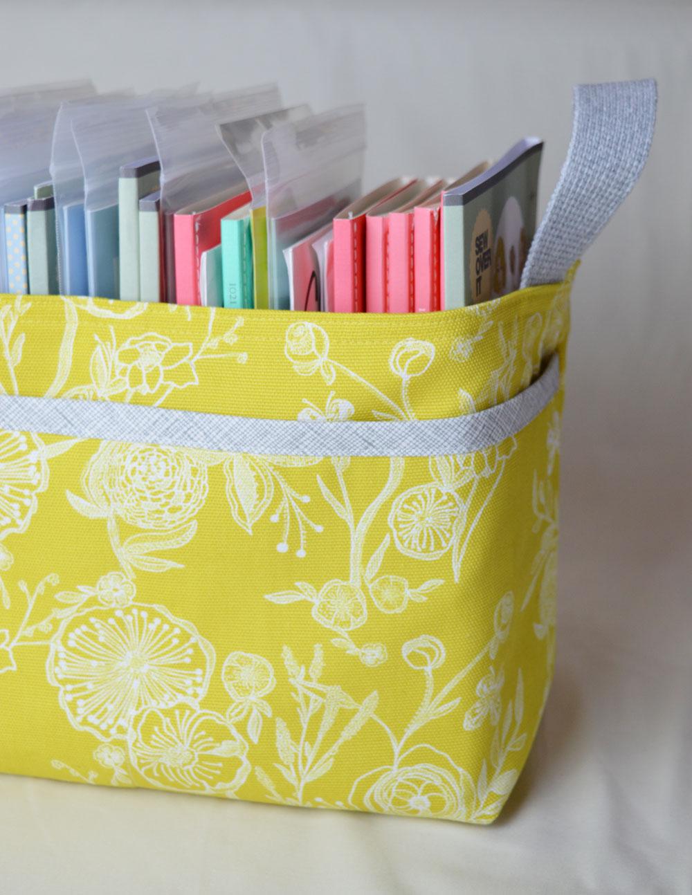 Noodle-head Divided Basket - Millie Fleur Line Drawings Canvas | Holm Sown