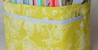 Noodle-head Divided Basket - Millie Fleur Line Drawings Canvas   filled   Holm Sown