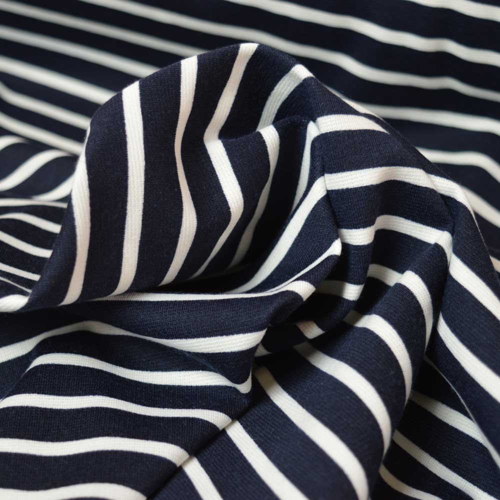 Ponte Roma navy and white stripe | Holm Sown