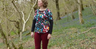 Holm Sown: Sew Over It Molly Top in Rio Viscose Jersery Black & Brights