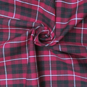 Holm Sown: Castle Check Cotton - Pink | Dressmaking Fabric