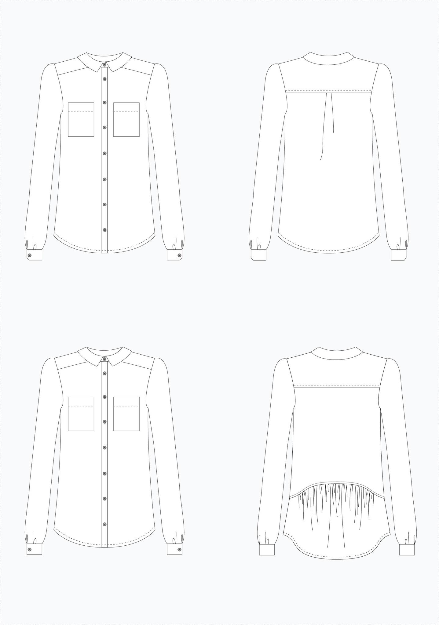 Holm Sown; Grainline Studio Archer Shirt Sewing Pattern