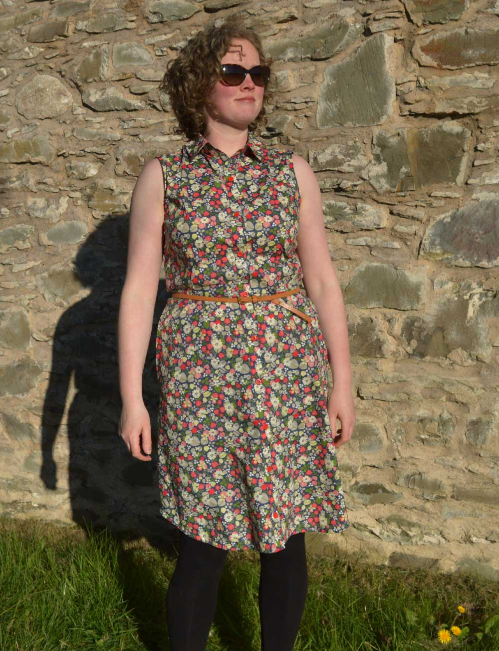 Holm Sown: McCalls M7351 Shirtdress - Strawberry Fields cotton lawn