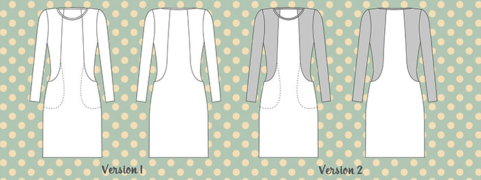 Holm Sown: Sew Over It Heather Dress - line drawings