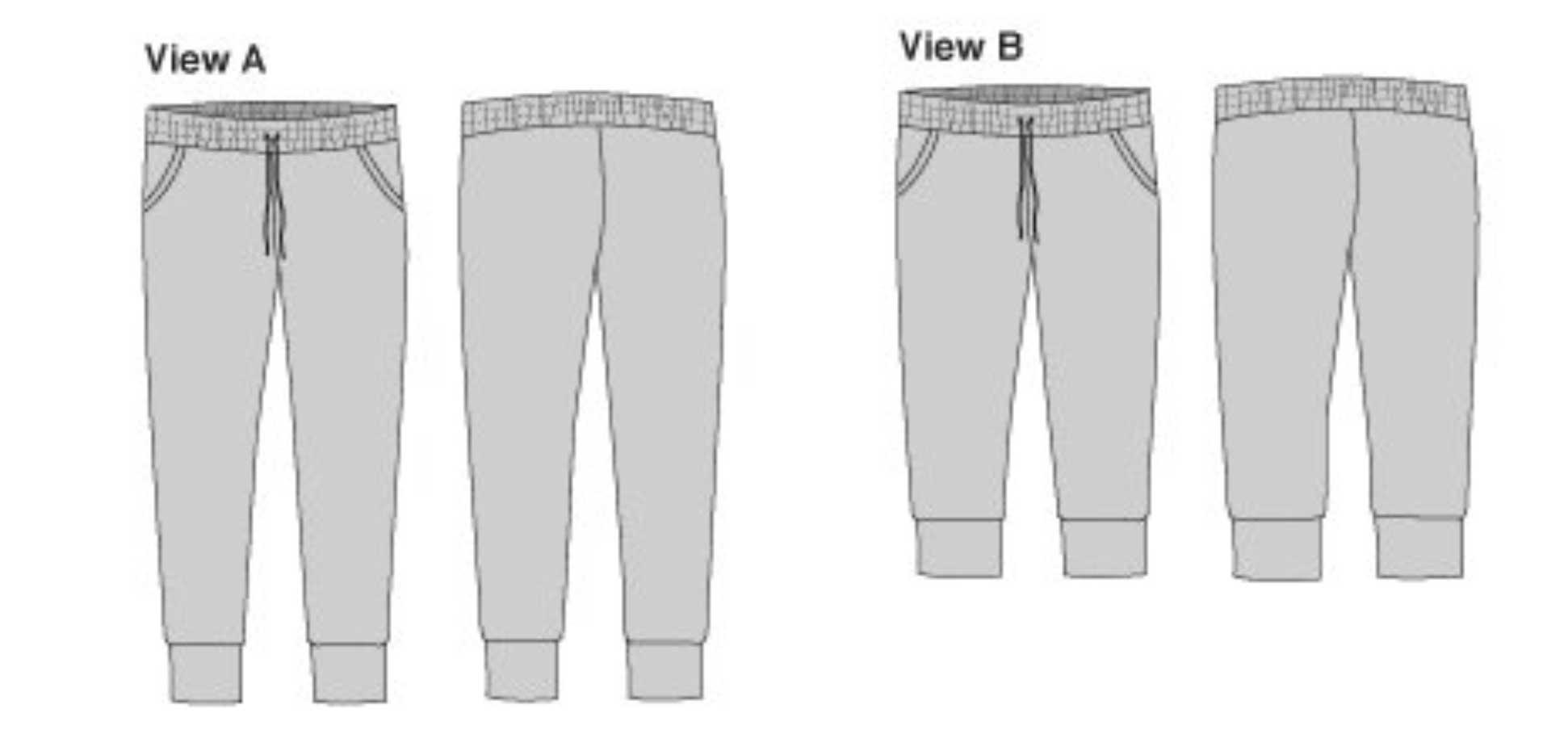 Holm Sown: True Bias Hudson Pant Sewing Pattern Line Drawing